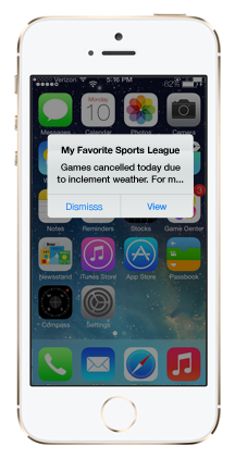 Get SMS updates from DelawareSportsLeague; it's easy & free to sign up!